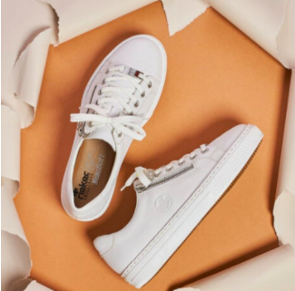 white Rieker trainers