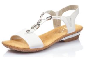 white slinkback sandals