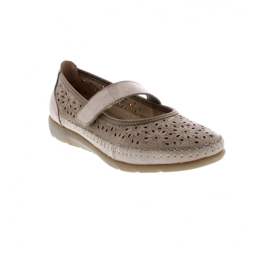D1906-60 Ladies beige Remonte' soft shoes