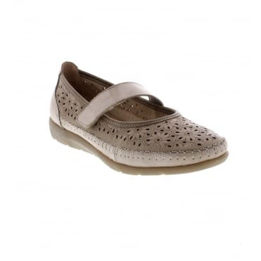 D1906-60 Ladies beige Remonte' soft shoes