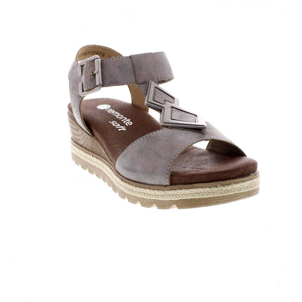 D6350-90 Ladies metallic Remonte soft sandals