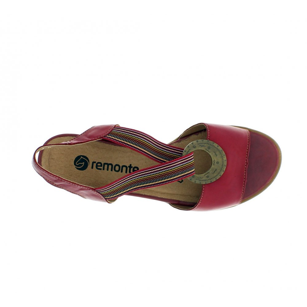 Remonte - Wedge Sandals Red