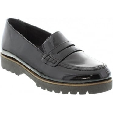 Remonte D0101-01 Ladies Black Slip on shoes