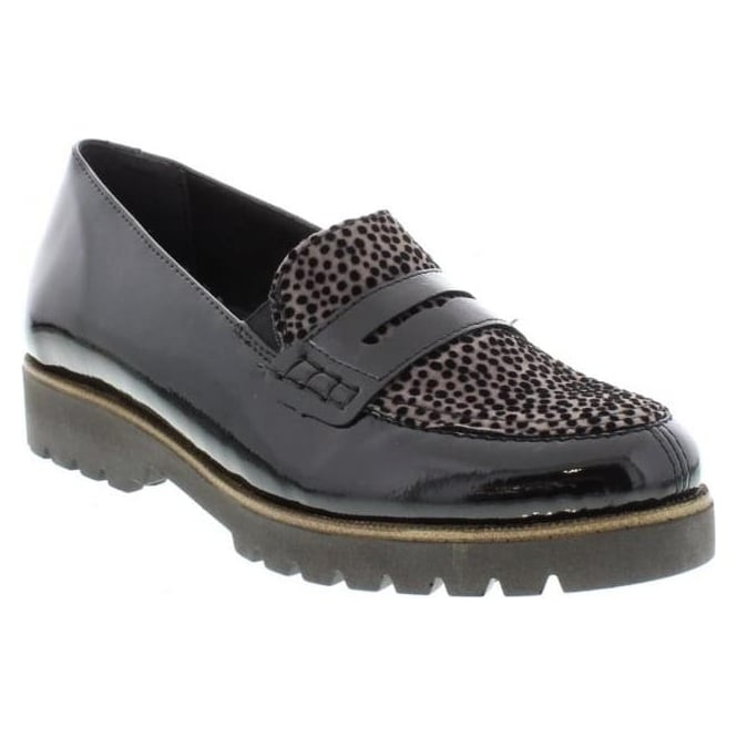 Remonte D0101-02 Ladies Black Combination Slip on shoes
