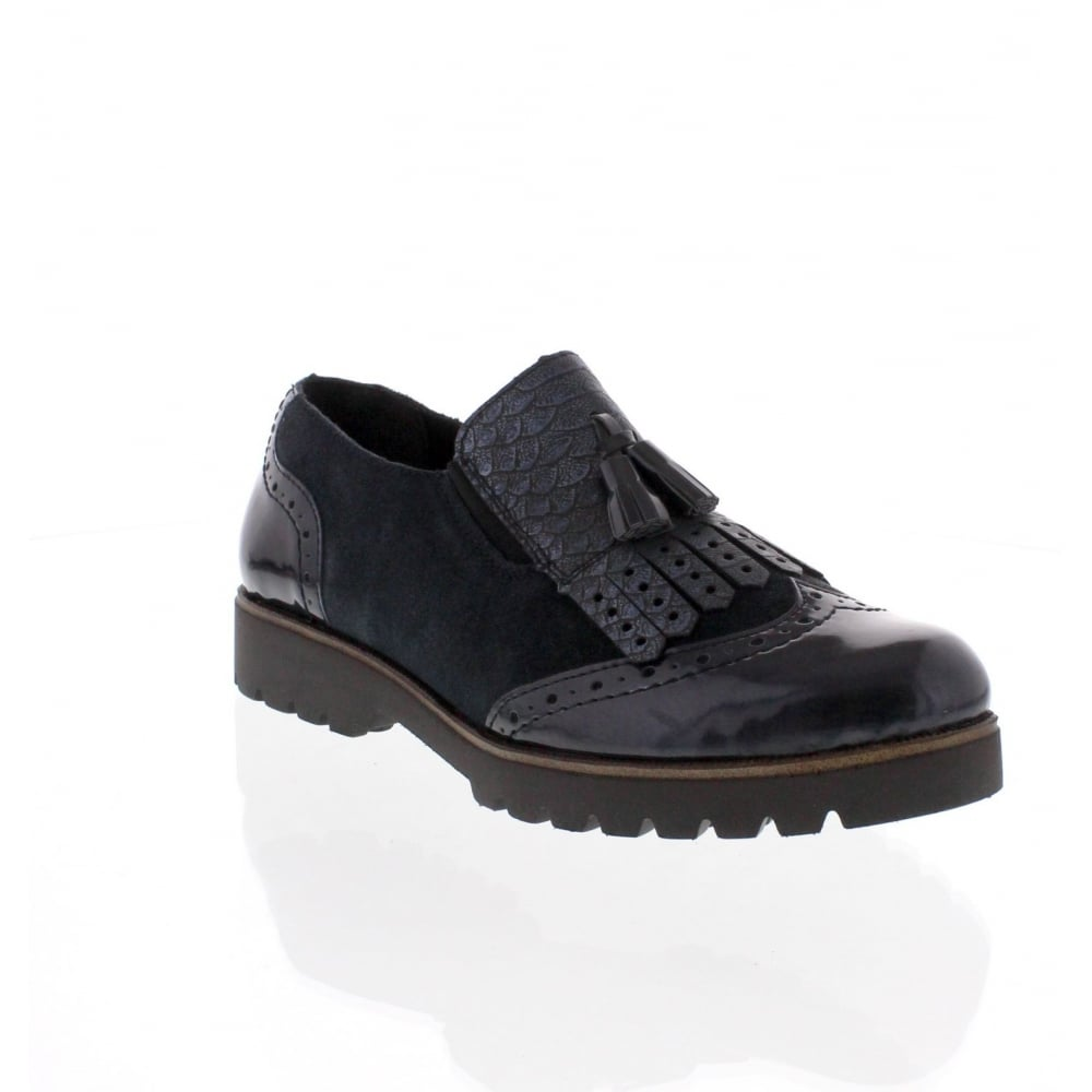 57d40d199bbe Remonte D0114-15 Womens Blue Slip On Shoe - Rieker Ladies from Rieker UK