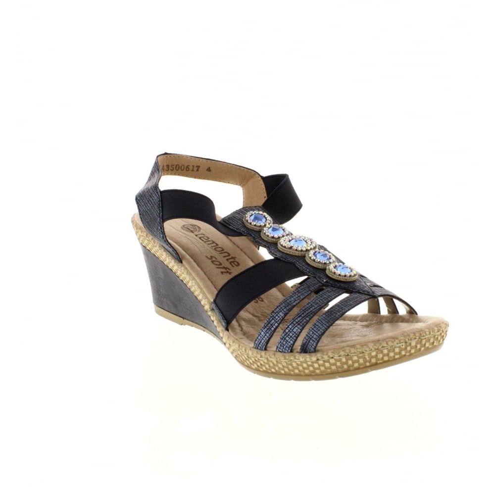 c5dd40f2d8dc Remonte D0459-14 Ladies Blue Sling Back sandals - Remonte Ladies from Rieker  UK