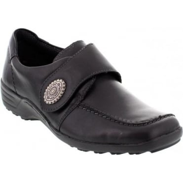 Remonte D0500-11 Ladies Black Velcro shoes