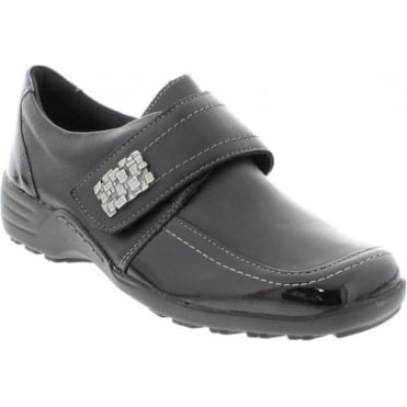 Remonte D0527-01 Ladies Black Velcro shoes