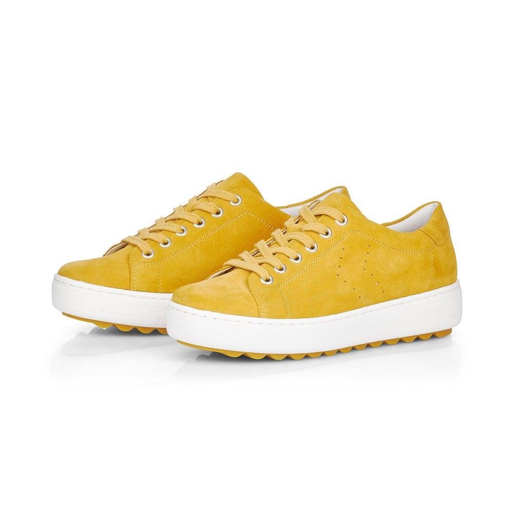 Remonte D1004-68 Ladies Yellow Lace Up