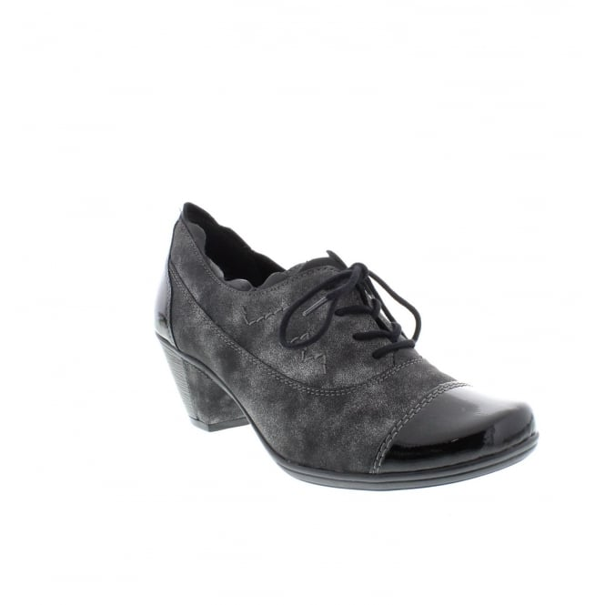 Remonte D1210-45 Ladies Grey Combination Lace Up shoes
