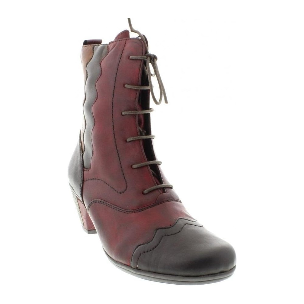 1773e57183fa Remonte D1271-35 Ladies Red Combination Lace Up