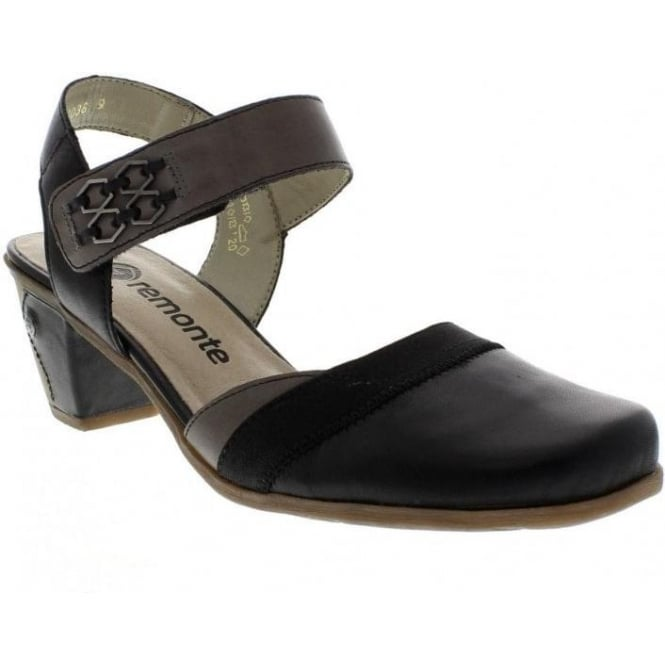 Remonte D1304-01 Black Combination sandal