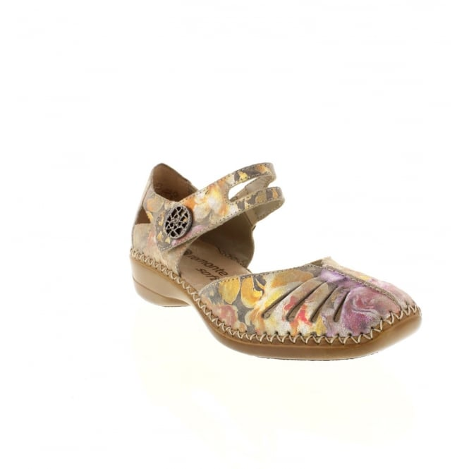 Remonte D1636-90 Ladies Multi-coloured/Metallic hook and loop shoes