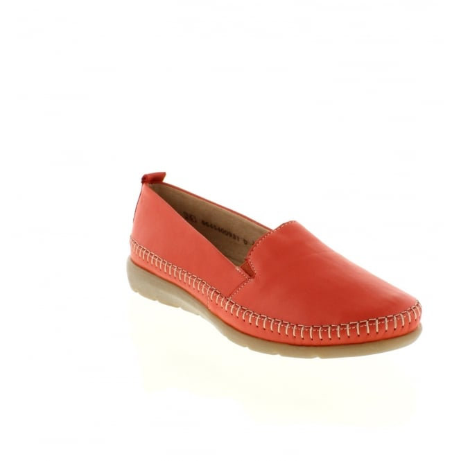 Remonte D1902-33 Ladies Red Slip on shoes
