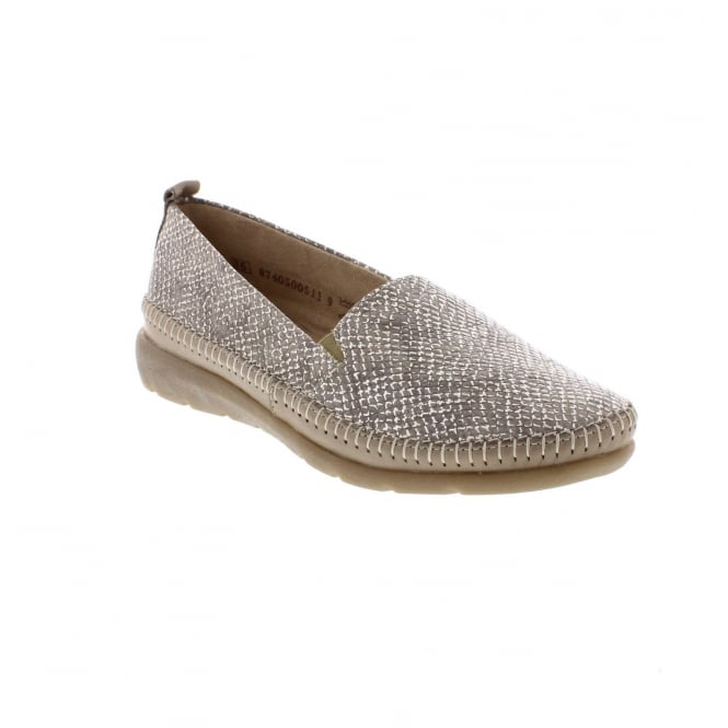 Remonte D1902-64 Slip on beige combination slip on shoes