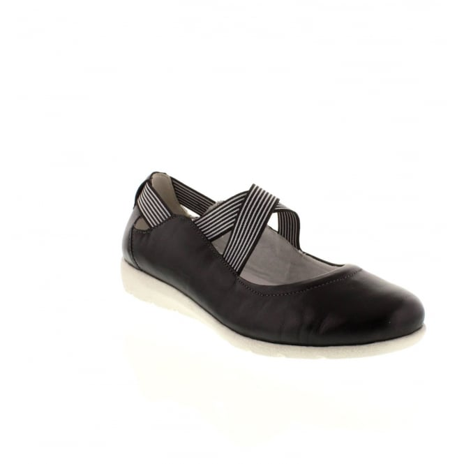 Remonte D1910-01 Ladies Black Slip on shoes