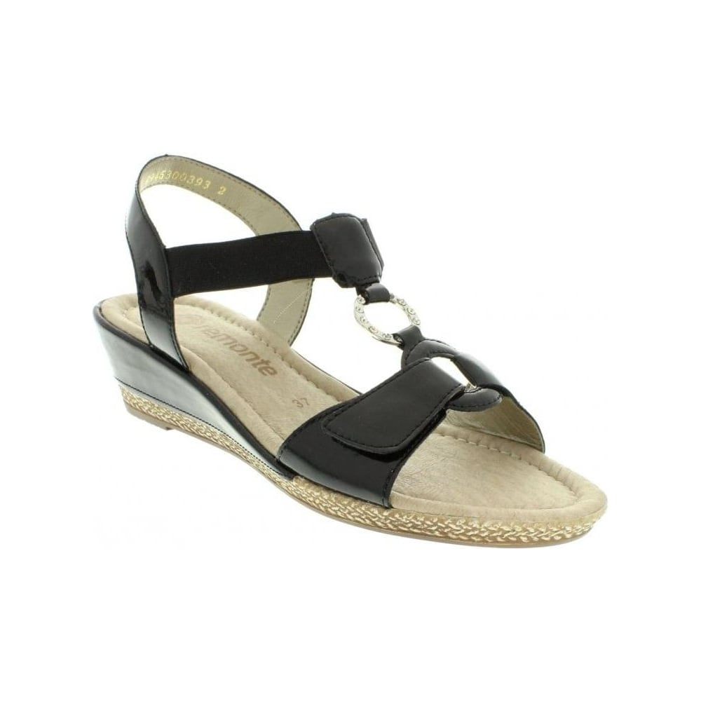 f100e35c689a Remonte D2460-01 Ladies Black Slip on - Remonte Ladies from Rieker UK