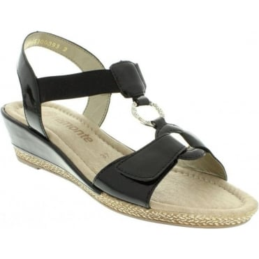 Remonte D2460-01 Ladies Black Slip on
