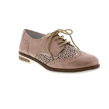 D2601-31 Ladies lace up shoes in Rose