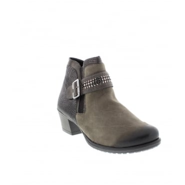 Remonte D3182-25 Ladies Brown Zipper ankleboots