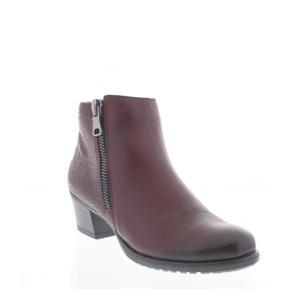 99e91402bb1d Remonte D3187-35 Womens red ankle boot - Remonte Ladies from Rieker UK