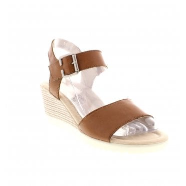 7b7233b8 D3444-22 Ladies Brown Wedge Sandals · Remonte ...
