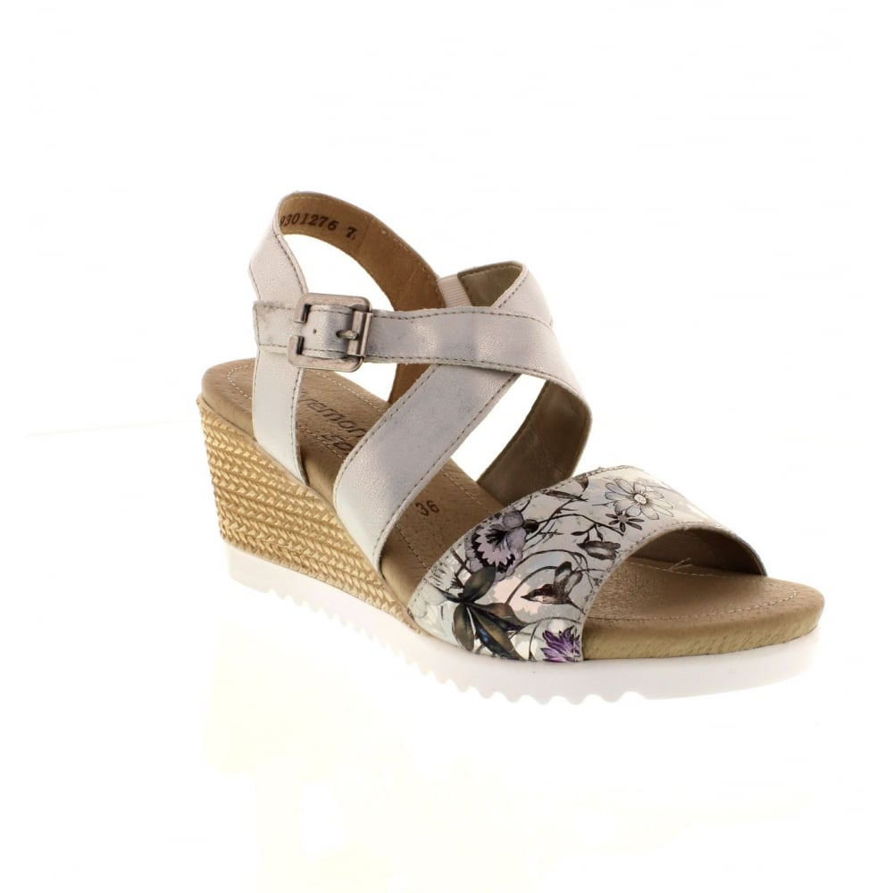 50724623ce84 Remonte D3452-90 Ladies Multi-coloured Metallic Buckle sandals - Remonte  Ladies from Rieker UK