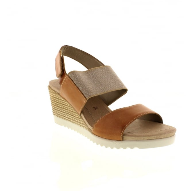 Remonte D3458-20 Ladies Brown Combination Velcro sandals