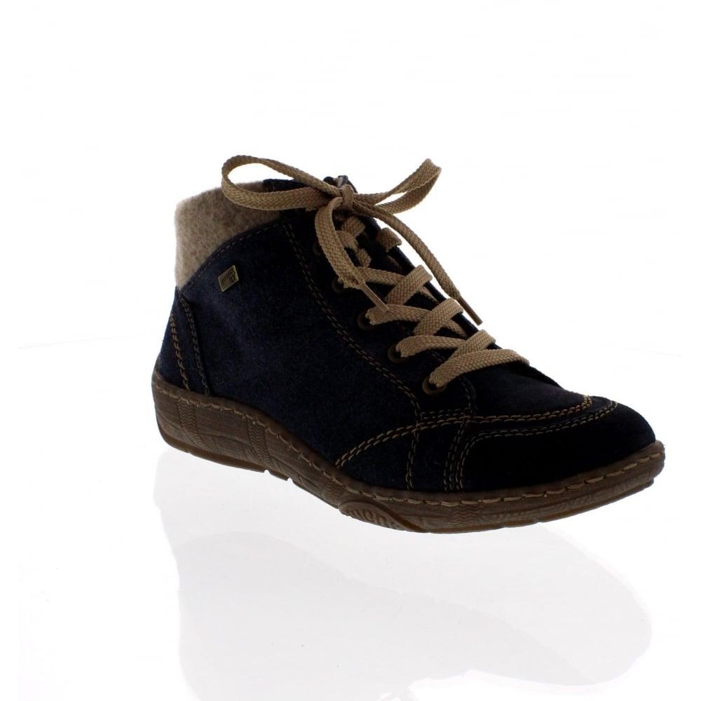 fe10dffd85365 Remonte D3887-15 Womens Blue Combination Ankle Shoe - Rieker Ladies from Rieker  UK