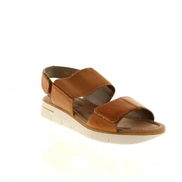 Remonte D3955-20 Ladies Brown Combination Velcro sandals