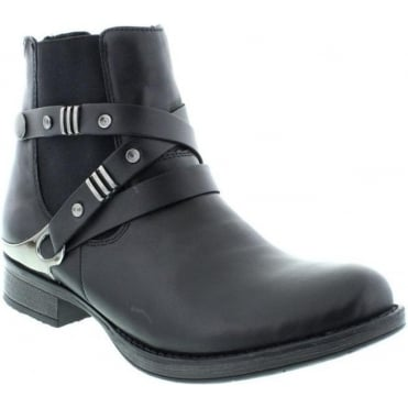 Remonte D4176-01 Black boot