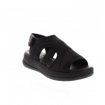 1fdb3574 D4256-02 Ladies Black Casual Sandals · Remonte ...