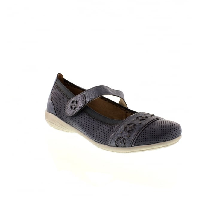 Remonte D4626-14 Ladies Blue hook and loop shoes