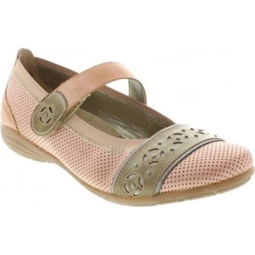 Remonte D4626-31 Ladies Pink Combination hook and loop shoes