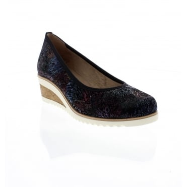 Remonte D5500-02 Ladies multi coloured wedges