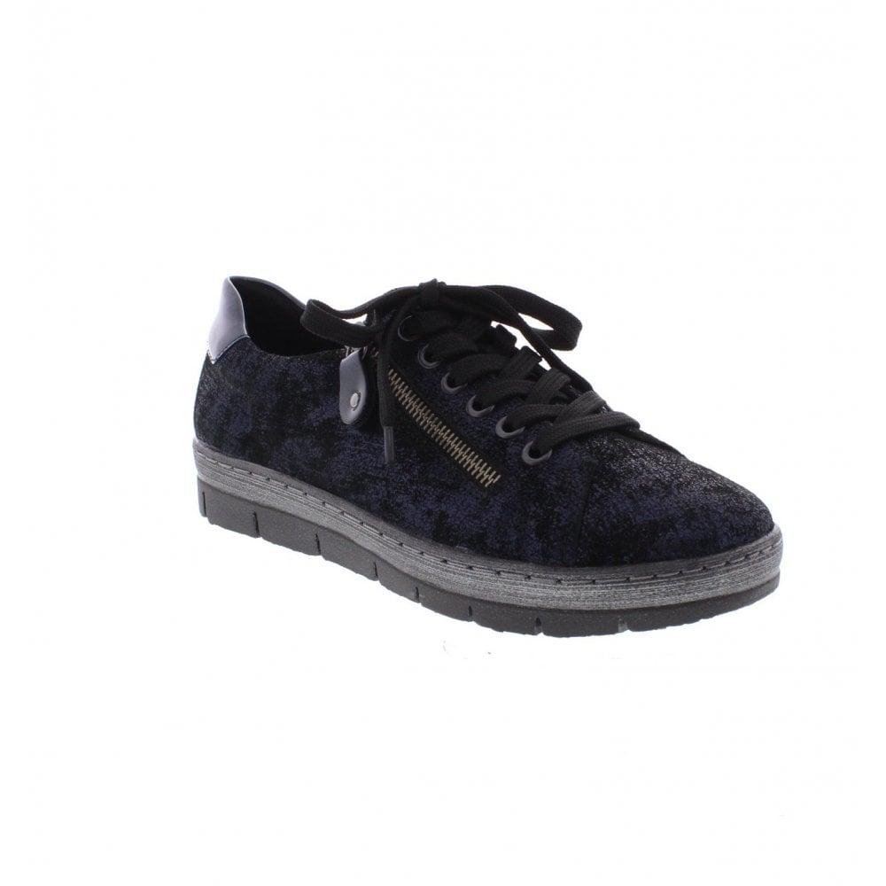 Remonte D5800 17 Ladies Blue Combination Shoes Remonte