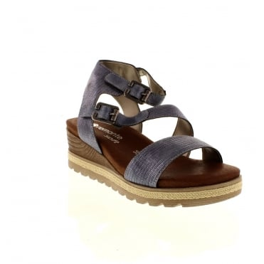 Remonte D6351-14 Ladies Blue Buckle sandals