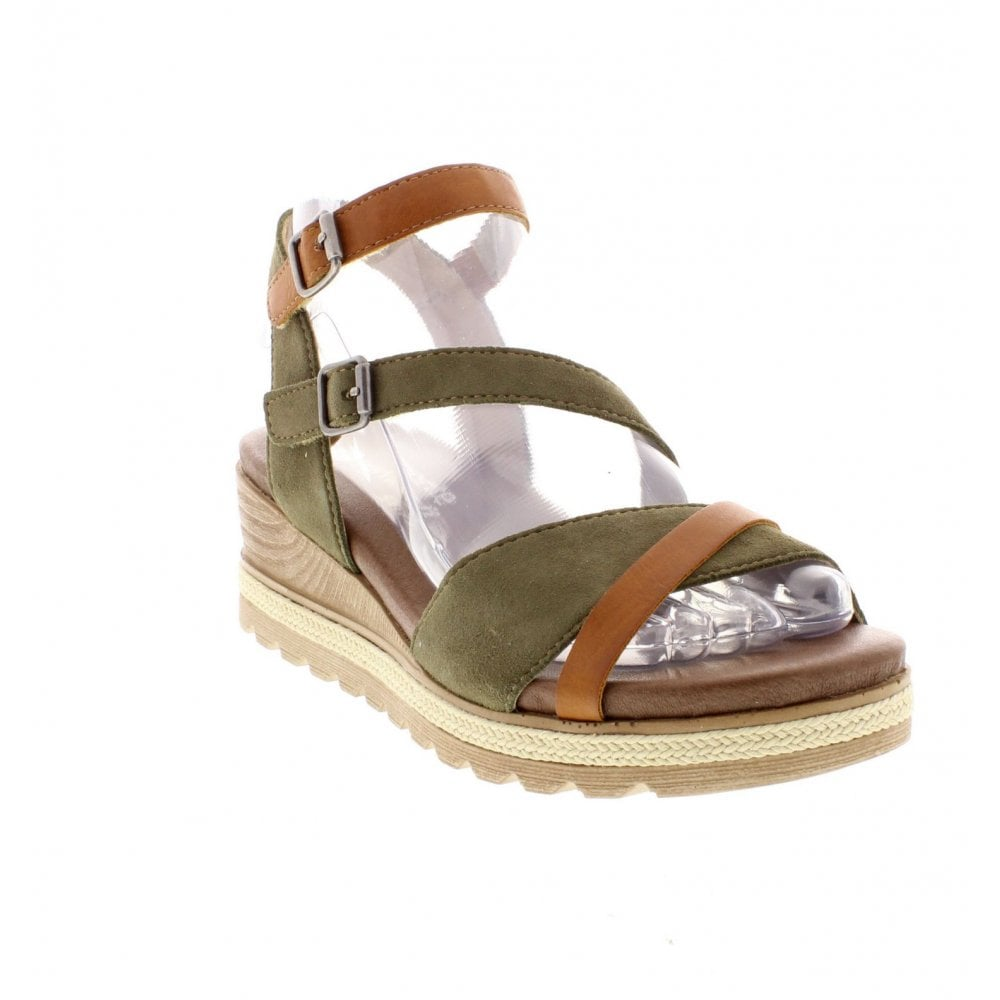 094b16756ea3 Remonte D6356-54 Ladies Green Combination Sandals - Remonte Ladies from Rieker  UK