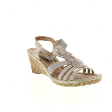 Remonte D6753-40 Ladies Grey Sling Back sandals