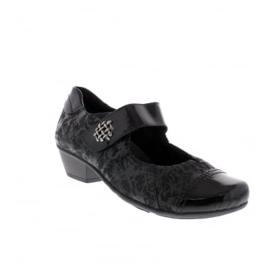 Remonte D7346-03 Womens black combination shoe