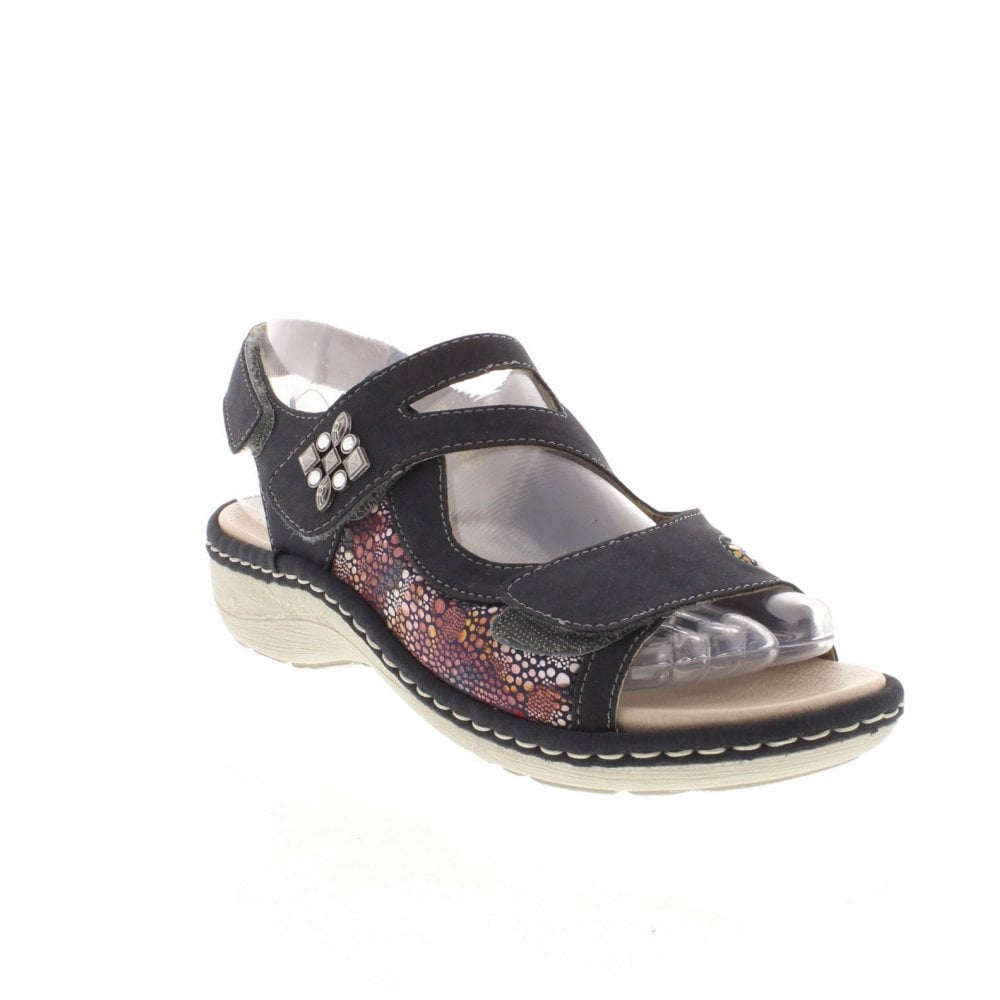 e6e9bcd35d5a Remonte D7647-14 Ladies Dark Blue Combination Sandals - Remonte ...