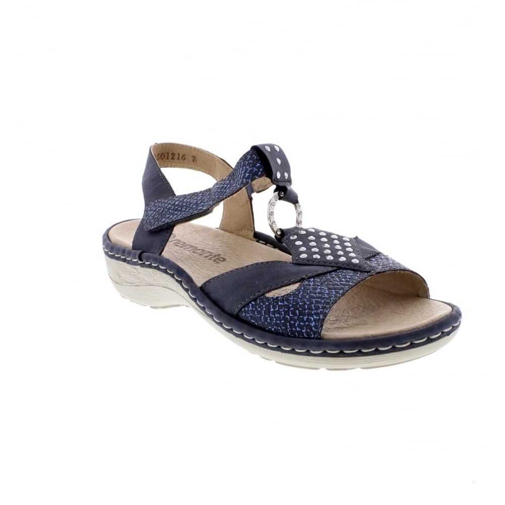 bf4bbb10eb41 Remonte D7668-14 Ladies Blue Combination Sandal - Remonte Ladies ...