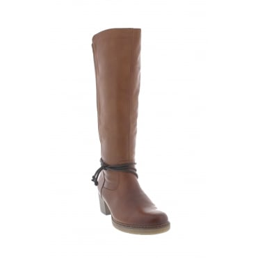 Remonte D8174-22 Womens brown two tone long boots