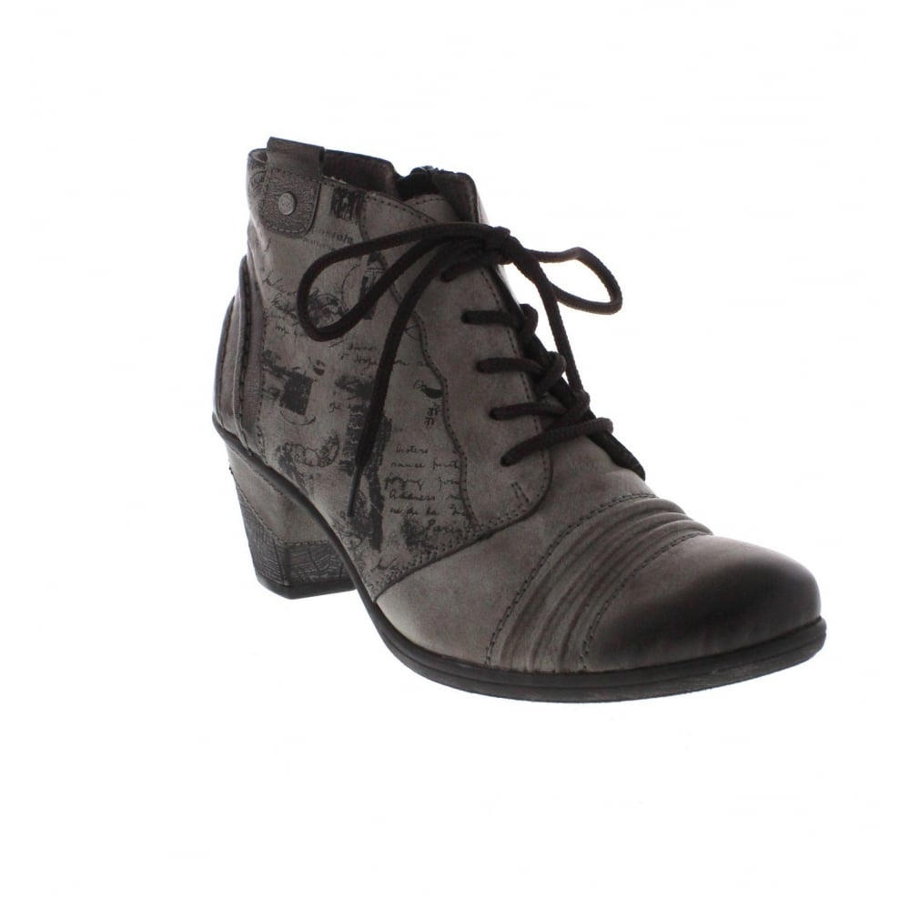 71aaad6338d D8771-25 Womens Grey Combination Ankle Boot