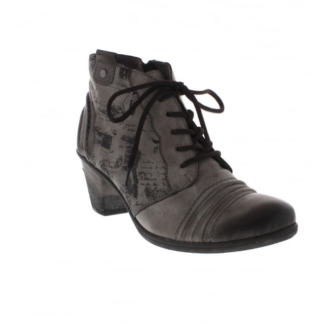 Remonte D8771-25 Womens Grey Combination Ankle Boot
