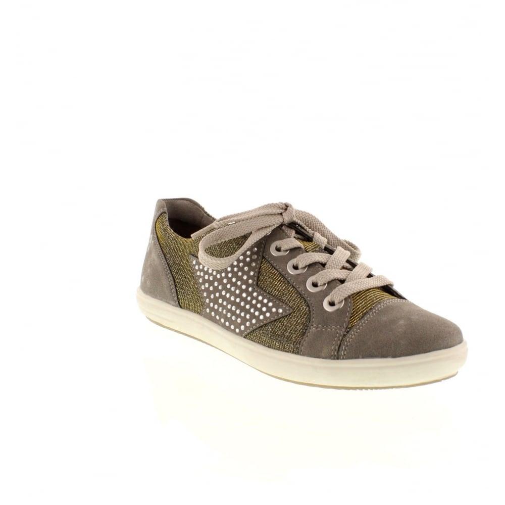 remonte d9105 42 ladies grey lace shoes remonte ladies from rieker uk. Black Bedroom Furniture Sets. Home Design Ideas