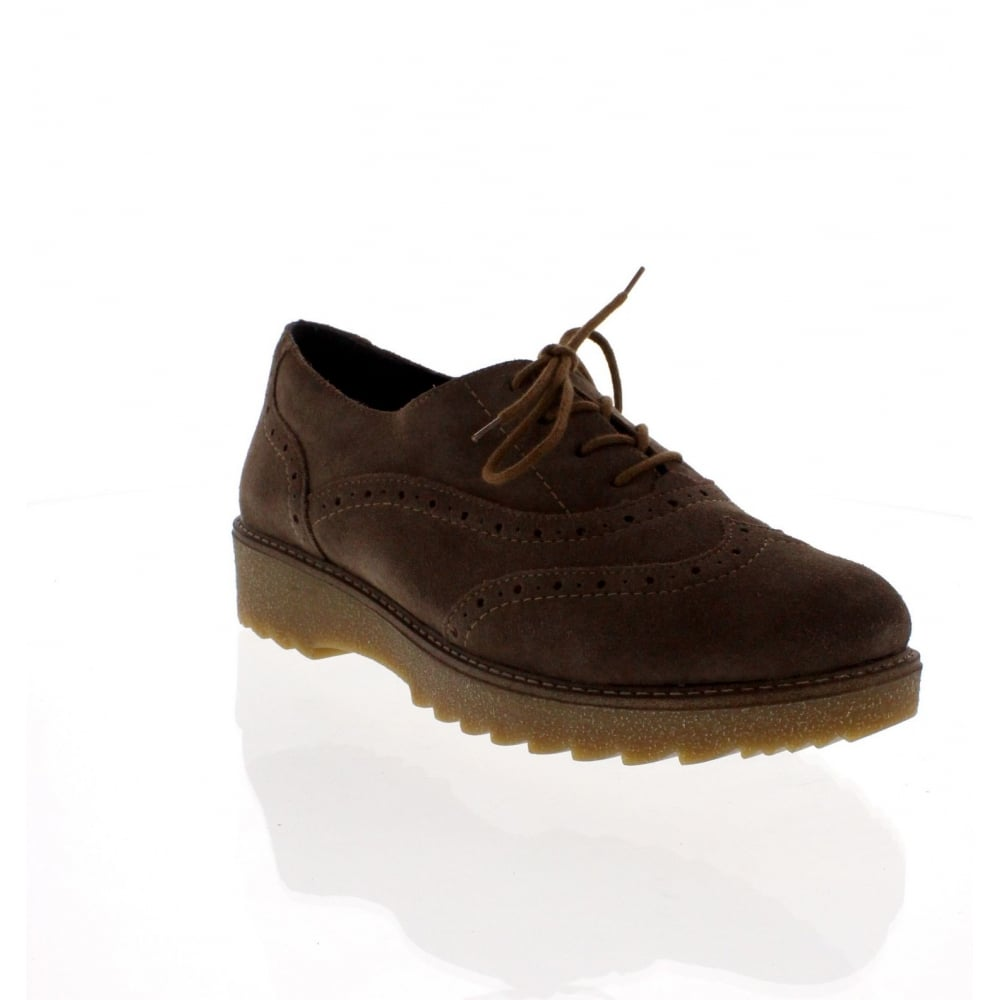 f047957eb12098 Remonte R0500-25 Womens Brown Lace Up Shoe - Rieker Ladies from Rieker UK