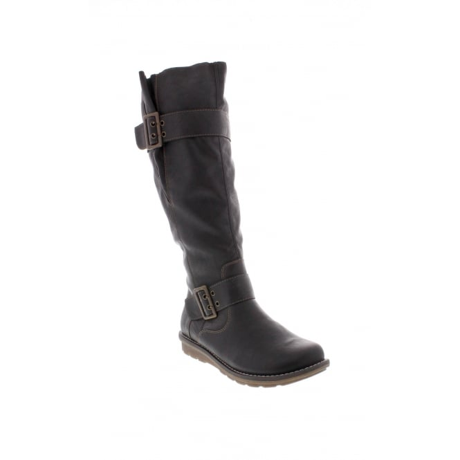 Remonte R1073-02 Womens black long leg 'Tex' boots