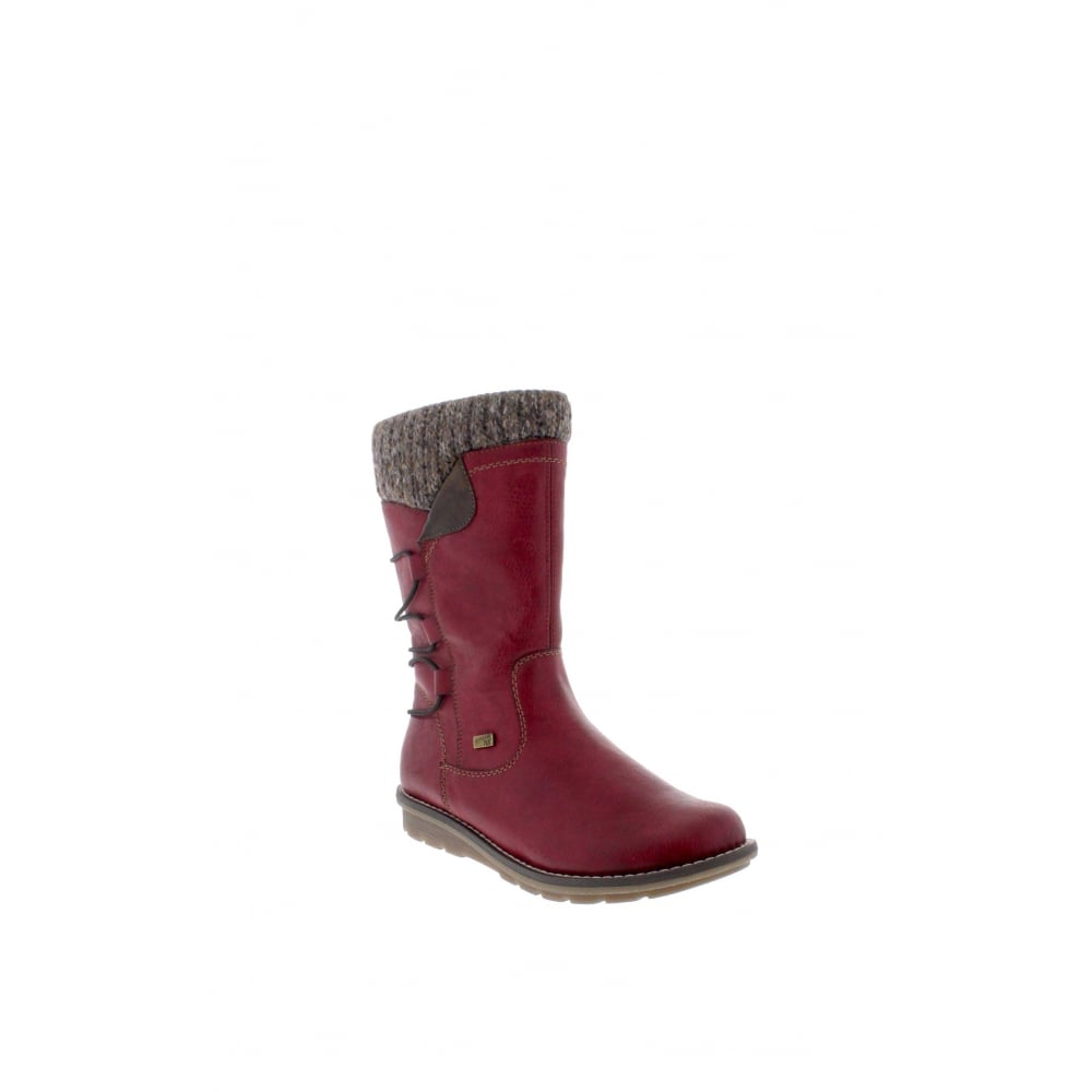 15491b7a24e Remonte R1094-35 Ladies red combination Zip ankle boots - Remonte Ladies  from Rieker UK