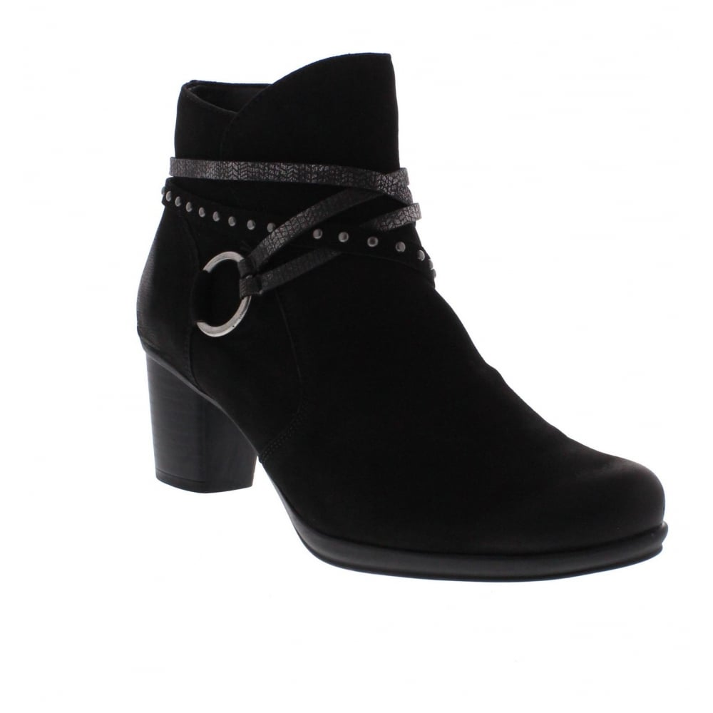 Remonte R1580 02 Womens Black Combination Ankle Boot